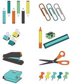 Office Accessories — Stock Vector