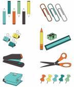 Office Accessories — Stock Vector