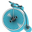 Vintage bike type 3 icon with a drop down shadow — Stock Vector #73020433