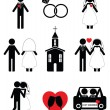 Wedding 2 icon set in black and white — Stock Vector #74429069