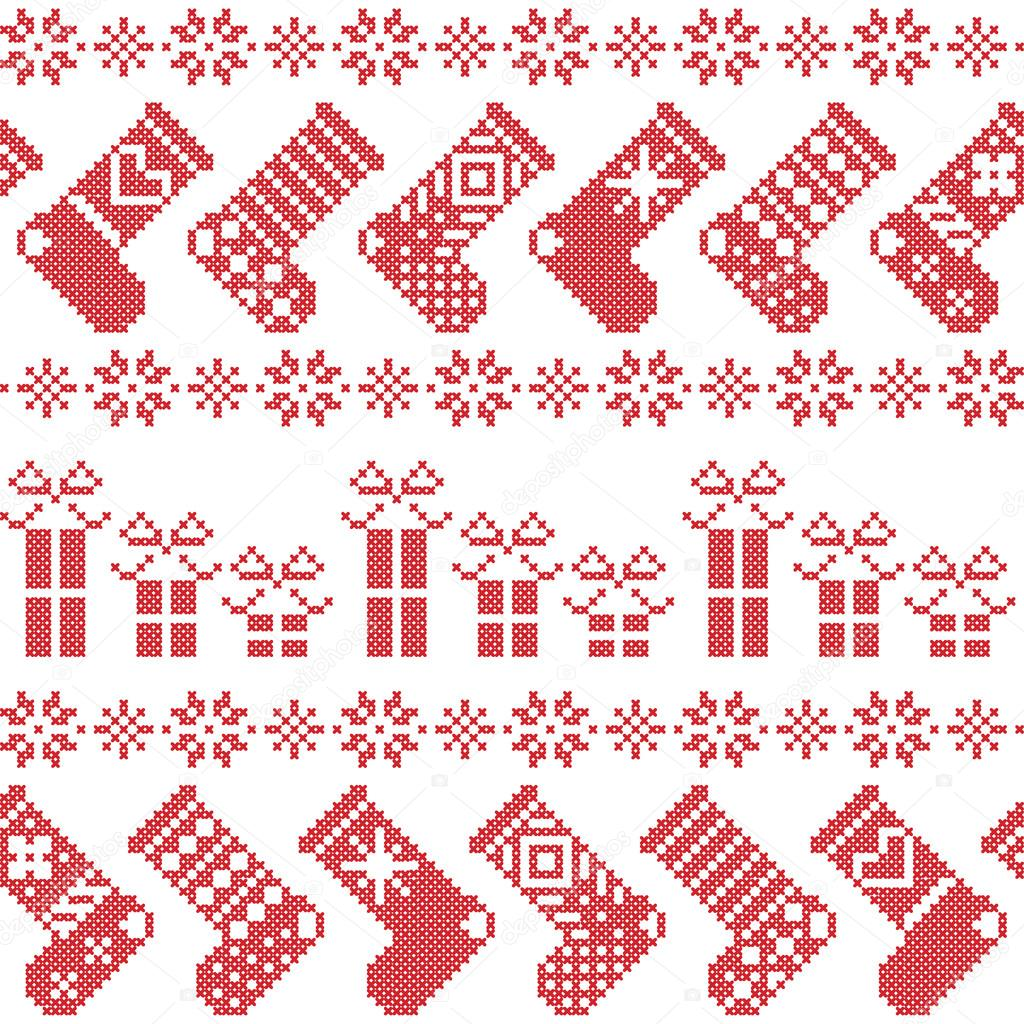 skandinavische weihnachten nordische muster mit str mpfen. Black Bedroom Furniture Sets. Home Design Ideas