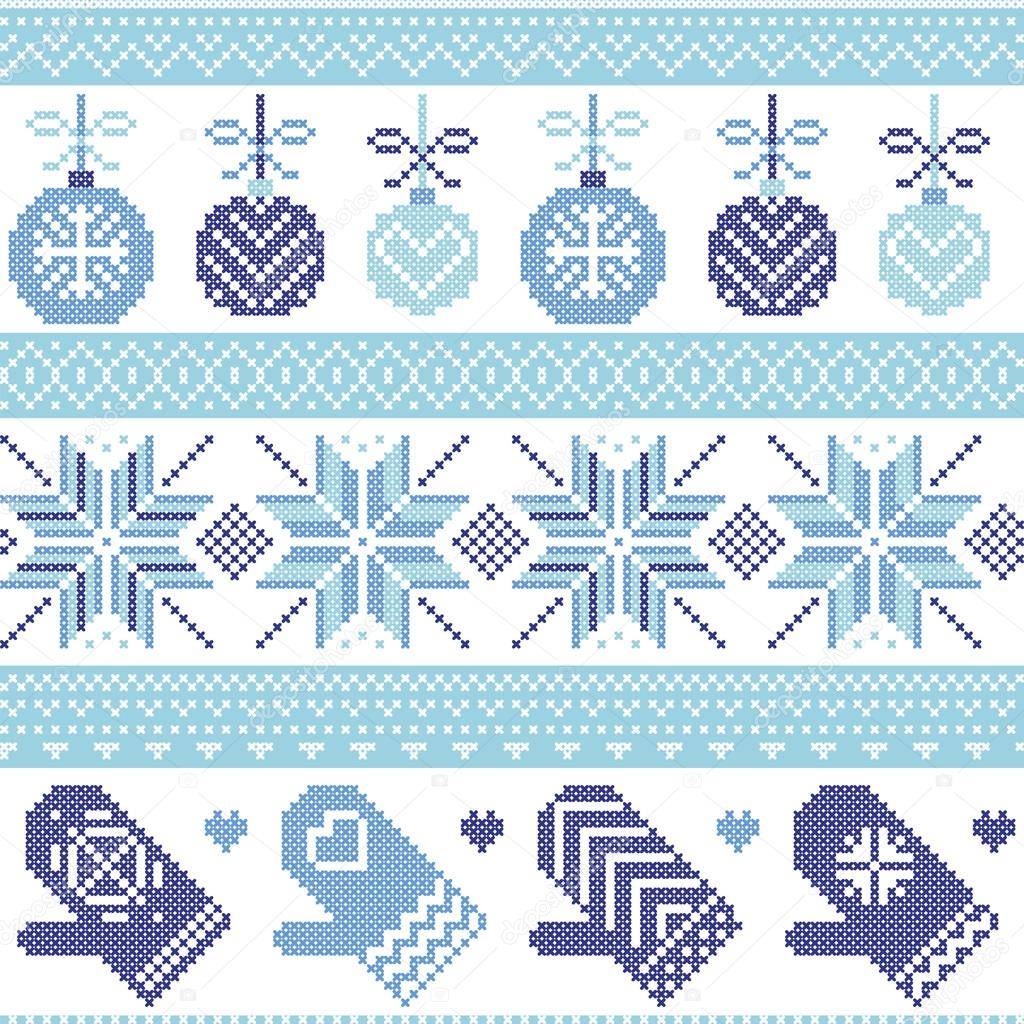 skandinavischen nordischen nahtlose weihnachten muster mit. Black Bedroom Furniture Sets. Home Design Ideas