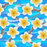 Tropical flowers plumeria — Stock Vector #73164005