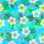 Tropical flowers plumeria — Stock Vector #75687967