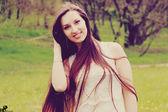 Огненная девушка — Stock Photo