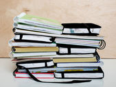 Stack of sketchbooks — Foto de Stock