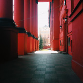 Detail of Taras Shevchenko National University — Stock Photo