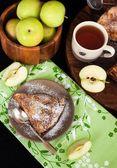 Piece of fresh homemade apple pie — Stock Photo