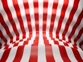 Red and white wave lines background — Stock Photo