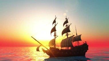 Zeilboot — Stockvideo