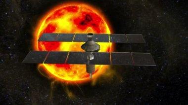 Man-made satellite — Video Stock