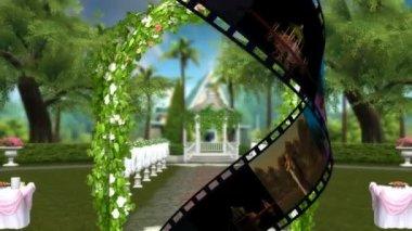 Garden wedding — Stock Video