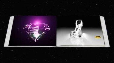 Starlight sky and wedding ceremony — Stock Video