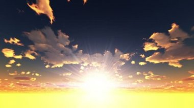 Sun rise — Stock Video