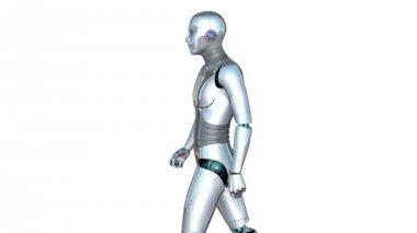 Walking robot — Stock Video