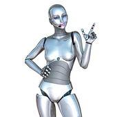 女性ロボット — ストック写真