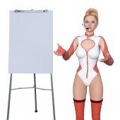 Promotional model — Stock Photo