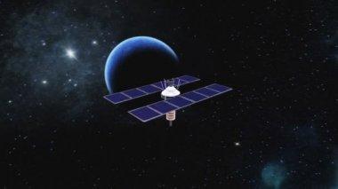Man-made satellite — Stock Video