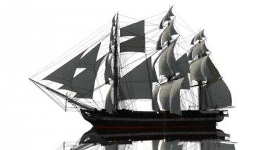 парусная лодка — Стоковое видео