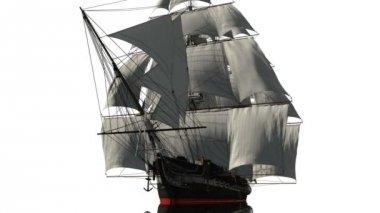 Yelkenli tekne — Stok video