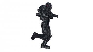Running robot — Stock Video