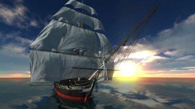 Sailing boat — Stock Video