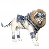 Lion soldier — Stock Photo