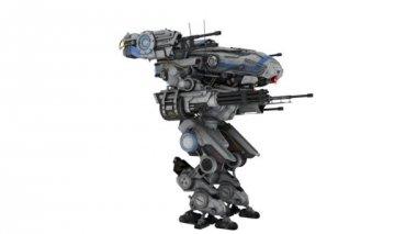 Battle robot — Stock Video