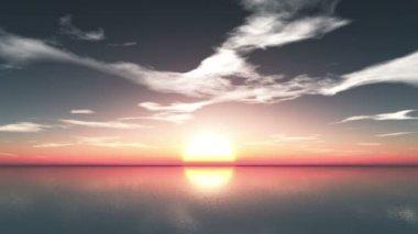 Solen stiga — Stockvideo