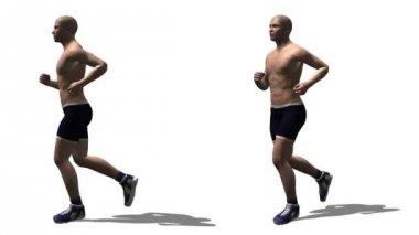Laufenden Mann — Stockvideo
