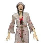 Female zombie — Stock Photo