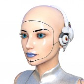 Female android — Stock Photo