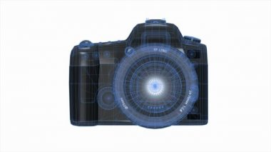 Digital SLR camera — Stockvideo