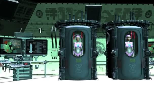 Robot femenino — Vídeo de stock