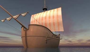 Barco à vela — Vídeo stock
