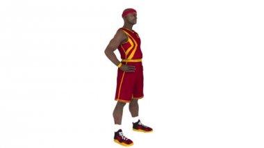 Basketspelare — Stockvideo