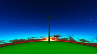 Energii elektrycznej z wiatru — Wideo stockowe