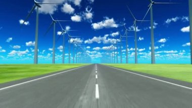 Wind-generated electricity — Stock Video