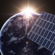 Earth and solar panel — Stock Photo #77519826