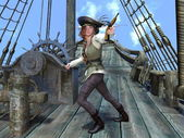 Kvinnliga pirater — Stockfoto