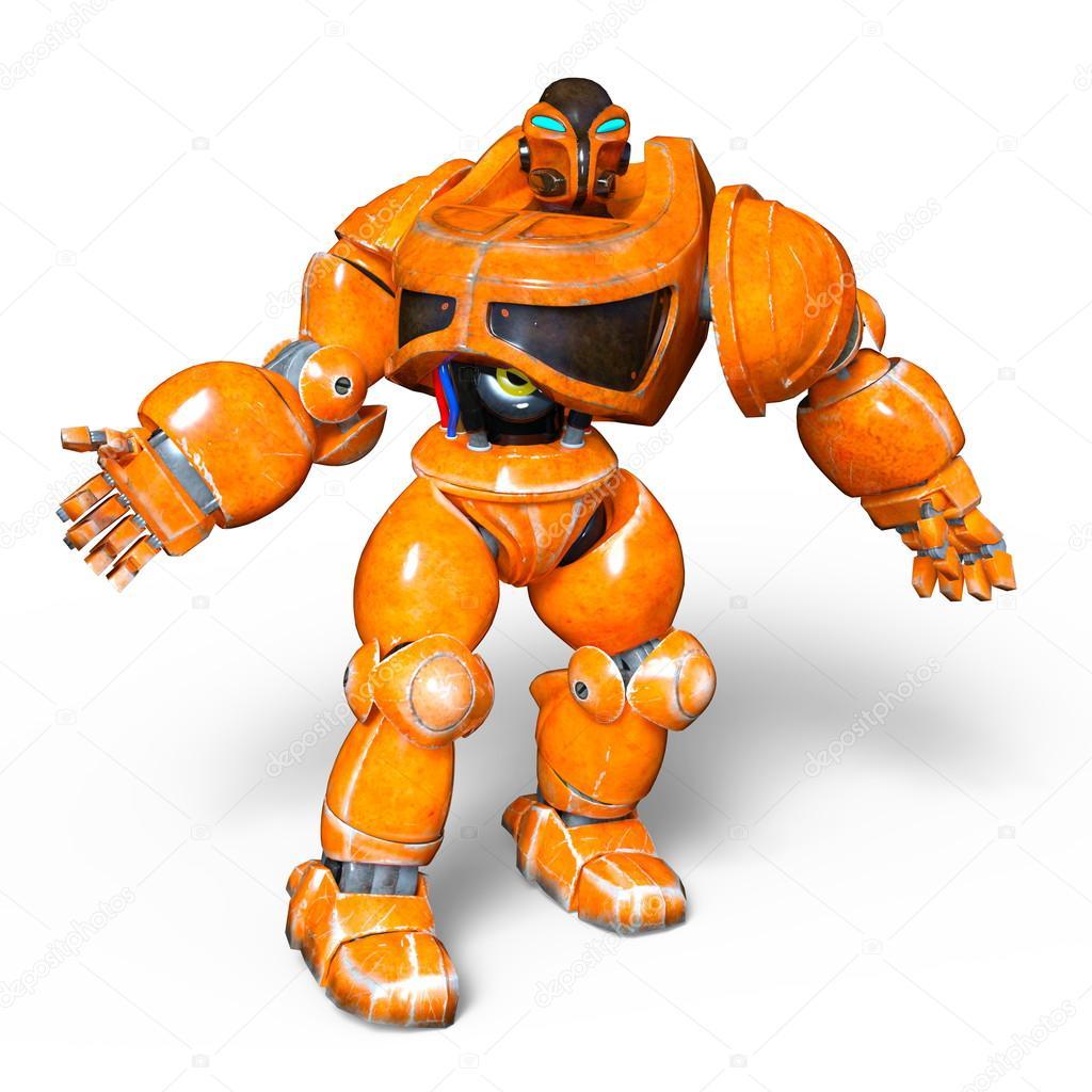 行走机器人的形象– 图库图片