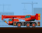 Mobile crane truck — Stock Vector