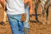Horse breeders — Stock Photo
