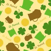 Saint Patrick's seamless vector pattern. — Stock Vector