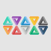 Triangle illusion icons — Stock Vector