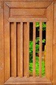 Slide Wooden Window — 图库照片