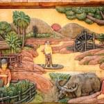 Molding Art of Thai Rural Life Style — Stock Photo #69106529