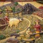 Molding Art of Thai Rural Life Style — Stock Photo #69110891