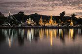 Wat Chong Kham and Wat Chong Klang Temples — Stockfoto
