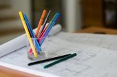 Drawing Pens — Stockfoto